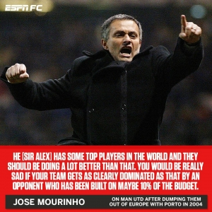 Past Mourinho dropping some truth bombs on Present Mourinho